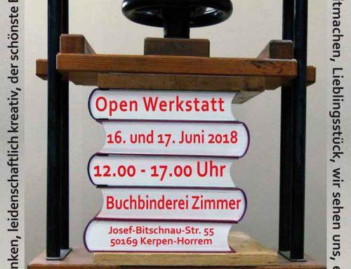Open Werkstatt am 16. und 17. Juni 2018